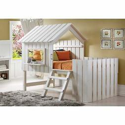 Donco Kids 1350TLRP Twin Cabana Loft Rustic Pearl NEW