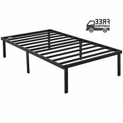 14' Heavy Duty Slat Bed Frame Black Steel Twin Full Queen Ki