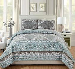 Fancy Linen 3pc King/California King Quilted Coverlet Bedspr