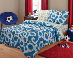 Your Zone 5 PieceTwin/Twin XL Bed In A Bag Cars Design