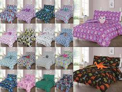 6/8-PC PRINTED COMFORTER BEDDING BED SET FOR KIDS AND TEENS
