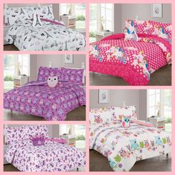 6PC TWIN GIRLS KIDS COMFORTER COMPLETE BEDDING SET MANY DESI