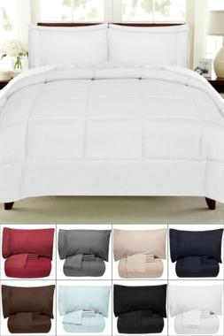 7 Piece Bed-In-A-Bag Down Alternative Comforter & Sheet Set