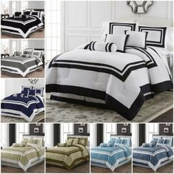 Chezmoi Collection 7-Piece Hotel style Comforter Set Full, Q