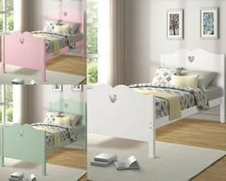 """76"""" Wooden Twin Bed Frame Platform with Headboard/Footboard"""