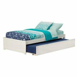 Concord Bed with Flat Panel Foot Board and Trundle Bed, Twin
