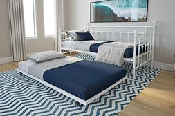 DHP Manila Metal Daybed and Trundle, Twin Size Daybed and Tr