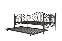 DHP Twin Metal Daybed and Roll Out Trundle Combo, Bronze Fin