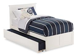 Nantucket Bed with Flat Panel Foot Board and Urban Trundle,