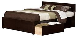 Orlando Bed with Flat Panel Foot Board and 2 Urban Bed Drawe