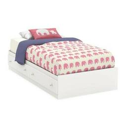 """South Shore Litchi 39"""" Twin Mate's Bed, Multiple Finishes"""