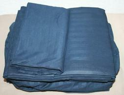 Amazon Basics Navy Blue Twin XL Sheet 3 Piece Set Deluxe Mic