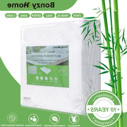 Premium Bamboo Mattress Cover Topper Bed Protector Waterproo