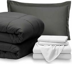 Bare Home Bed-in-A-Bag 5 Piece Comforter & Sheet Set - Twin