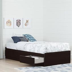 "South Shore Basic 10571 39"" Mates Bed with 3 Drawers, Twin,"