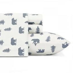 Eddie Bauer Bear And Trees 3-Piece Sheet Set, Flannel, Twin/