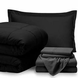Bare Home Bed-in-A-Bag 5 Piece Comforter & Sheet Set -