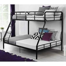 Black Twin Over Full Bunk Bed Frame Home Living Dorm Bedroom