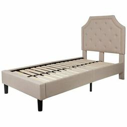 Flash Furniture Brighton Tufted Upholstered Twin Size Platfo