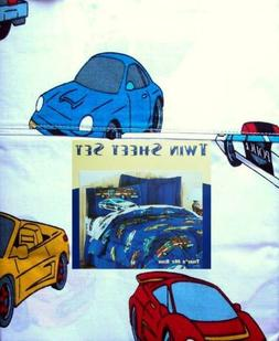 CARS AND TRUCKS 3PC TWIN SHEETS BEDDING SET NEW