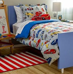 Cars Racer Fan Twin Size 6Pc Youth Kids Bedding and Sheet Se