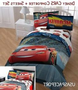 Disney CARS Twin-Full COMFORTER+SHEETS SET Bed in a Bag Room