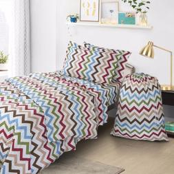 College Dorm Twin XL Bed In a Bag 6 Piece Bedding Set  - Inc