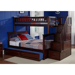Atlantic Furniture Columbia Staircase Bunk Bed Twin over Ful