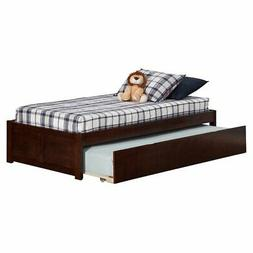 Atlantic Furniture Concord Twin Platform Bed with Flat Panel