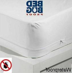 Deluxe Fabric Zippered Bed Bug & Waterproof Mattress Cover P