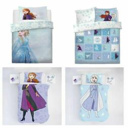 Diseny Frozen 2 Movie Girls reversible duvet cover sets with