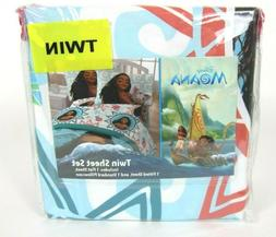 Disney Moana Twin Size Bed Sheet Set 3 Piece Kids Bedding Sh
