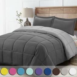 Down Alternative Comforter Set 3 Pcs with Shams All Season R