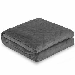 Bare Home Duvet Cover for Weighted Blanket  Diamond Pattern