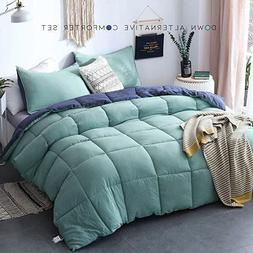 Duvet Quilted Comforter Bedspread Plush Microfiber Fill Cove