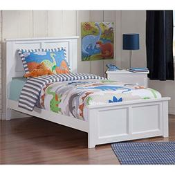 Atlantic Furniture 77 in. Eco-Friendly Twin XL Bed in White