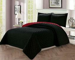 Elegant Comfort Luxury 2-Piece Bedspread Coverlet Diamond De