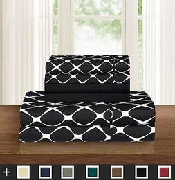 Elegant Comfort Luxury Softest and Coziest 4-Piece Bed Sheet