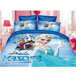 Elza and Anna Frozen for Girl Bed Bedding Comforter Set Twin