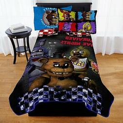 "Five Nights at Freddy's Plush Blanket 62"" x 90"" Fazbear's Pi"