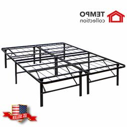 Folding Metal Smart Platform Bed Frame/Mattress Foundation/T