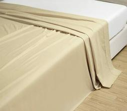 Grand Linen 6-Pack Queen Size, Ivory/Beige Solid Flat Bed Sh