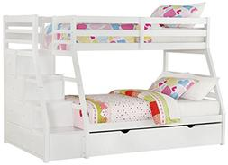 Acme Furniture Jason Bunk Bed with Storage Ladder 37105, Twi