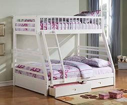 Acme Furniture Jason Twin Over Full Bunk Bed with 2 Drawers
