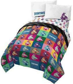 Jay Franco Fortnite Llama Warhol 4 Piece Twin Bed Set - Incl