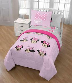 Jay Franco Minnie Mouse Faces 5 Piece Twin Bed Set