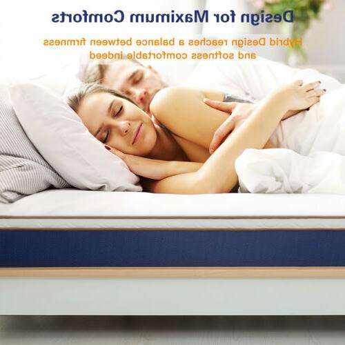 10 inch spring hybrid twin size mattress