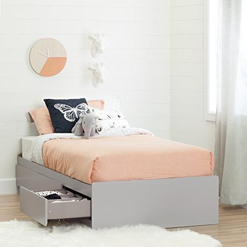 South Shore Cookie Mates Bed with Gray