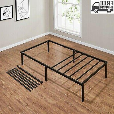 14' Bed Steel Twin Queen Black/White Home