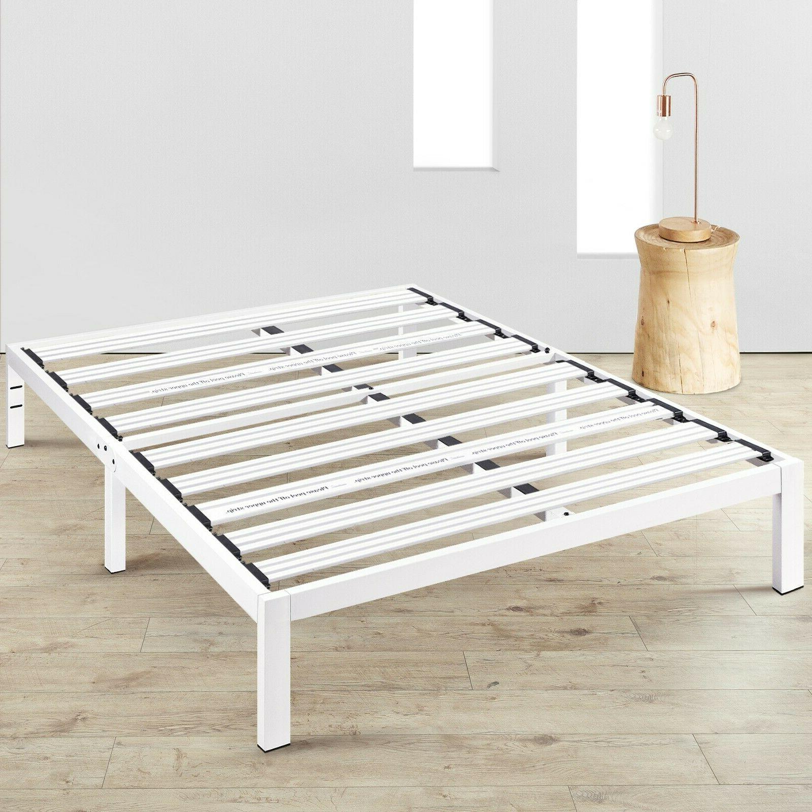 14 metal platform bed with extra sturdy